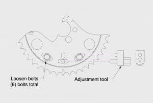how to use adjustment tool on timing system